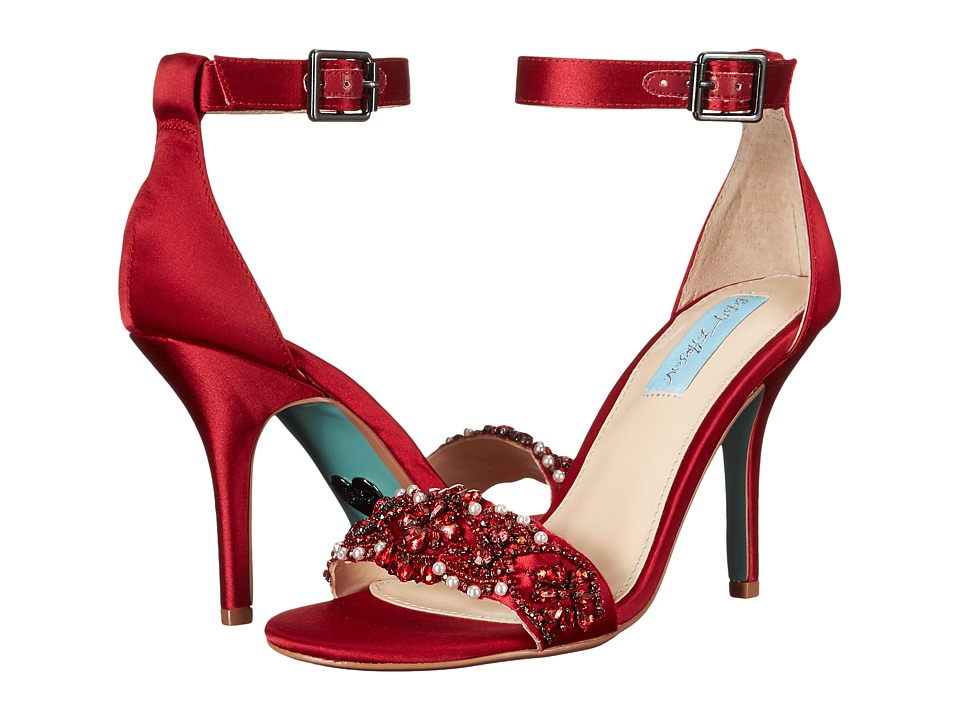 Blue by Betsey Johnson - Gina (Red Satin) Women's 1-2 inch heel Shoes