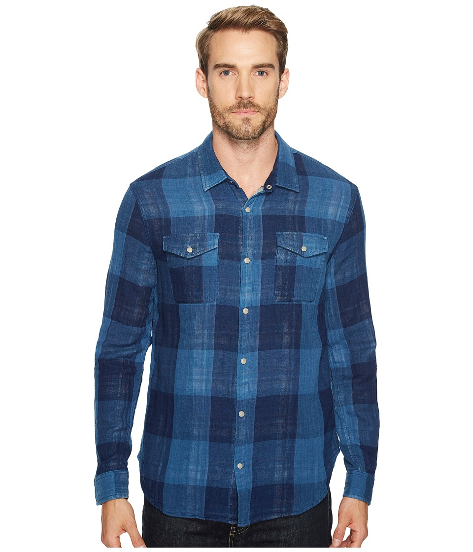 John Varvatos Star U.S.A. - Western Shirt w/ Snap Chest Pocket (Water Blue) Men's Clothing