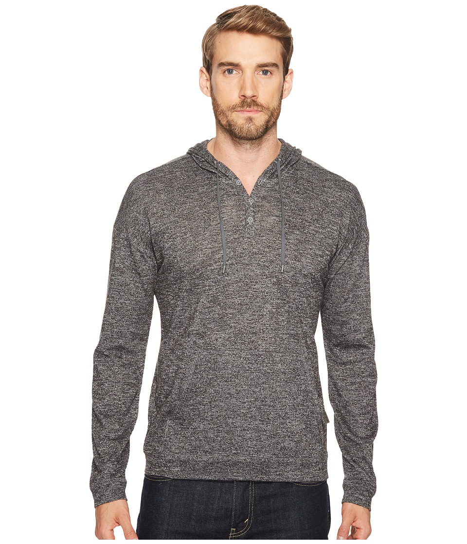John Varvatos Star U.S.A. - Hooded Jersey Pullover (Black/White) Men's Clothing