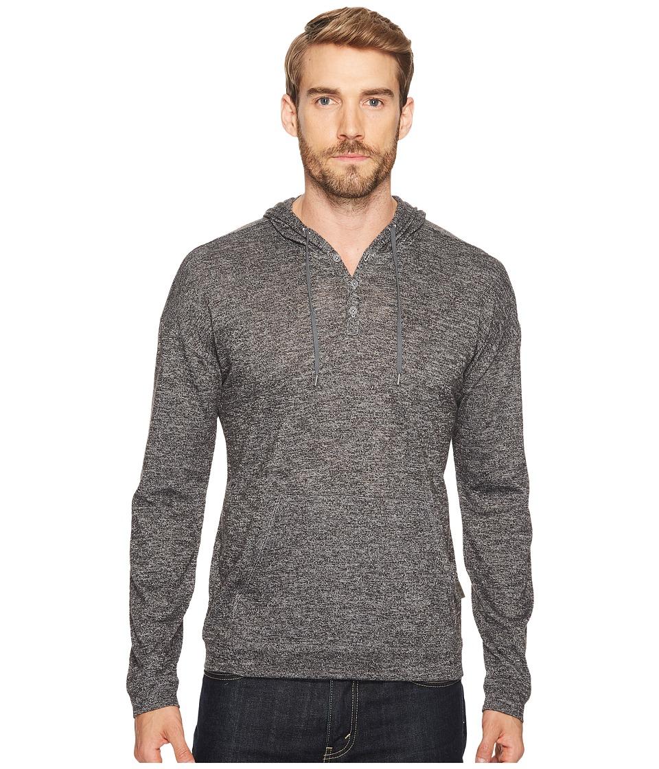 John Varvatos Star U.S.A. - Hooded Jersey Pullover (Black/White) Men's Clothing