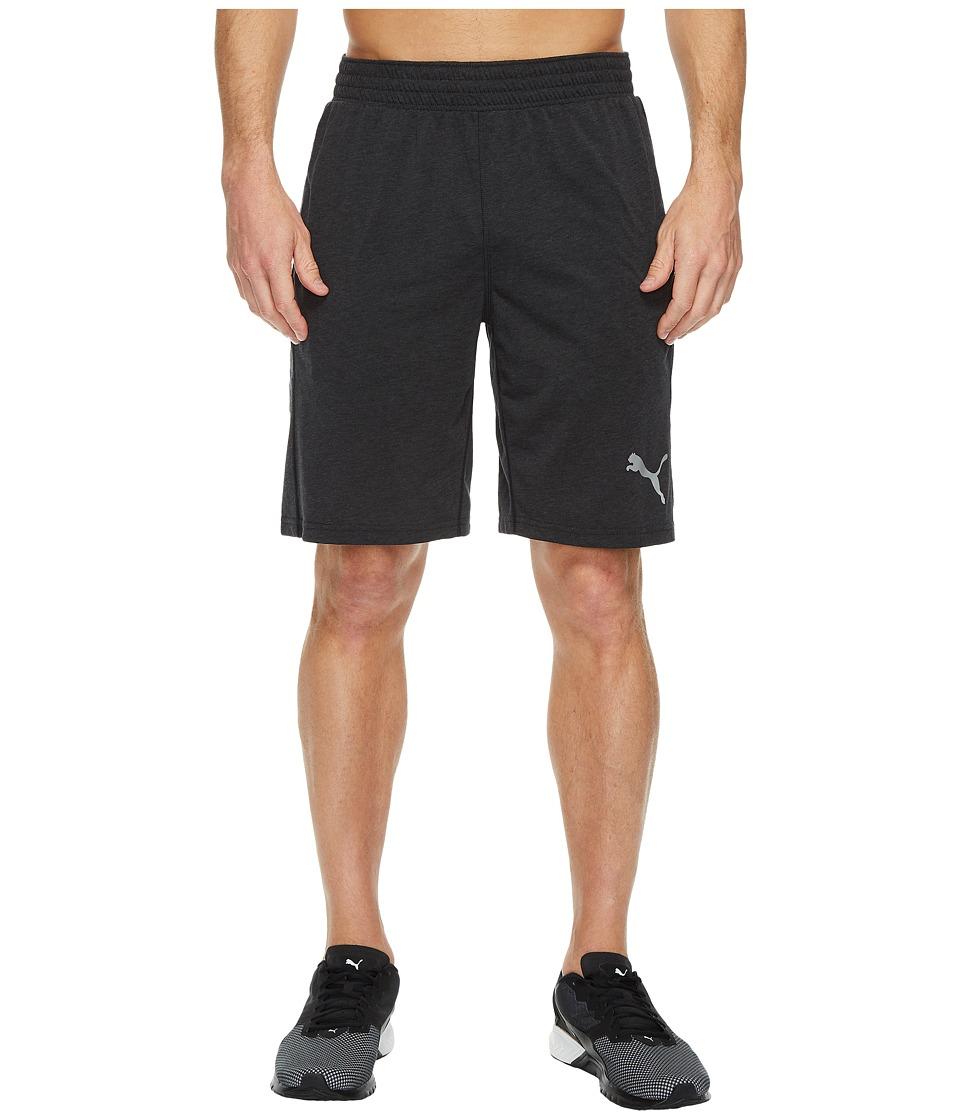 PUMA - Essential Dri-Release Shorts (Dark Grey Heather) Men's Shorts