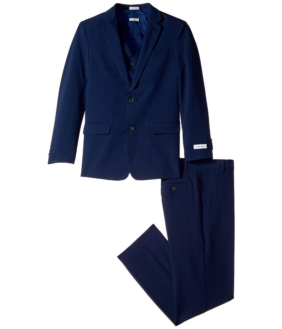 Calvin Klein Kids - Bi-Stretch Suit (Big Kids) (Dark Blue) Boy's Suits Sets