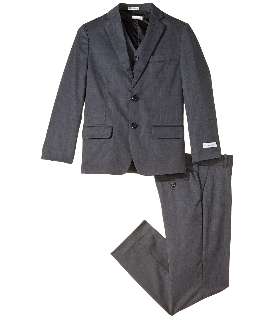 Calvin Klein Kids - Nailhead Suit (Big Kids) (Dark Grey) Boy's Suits Sets