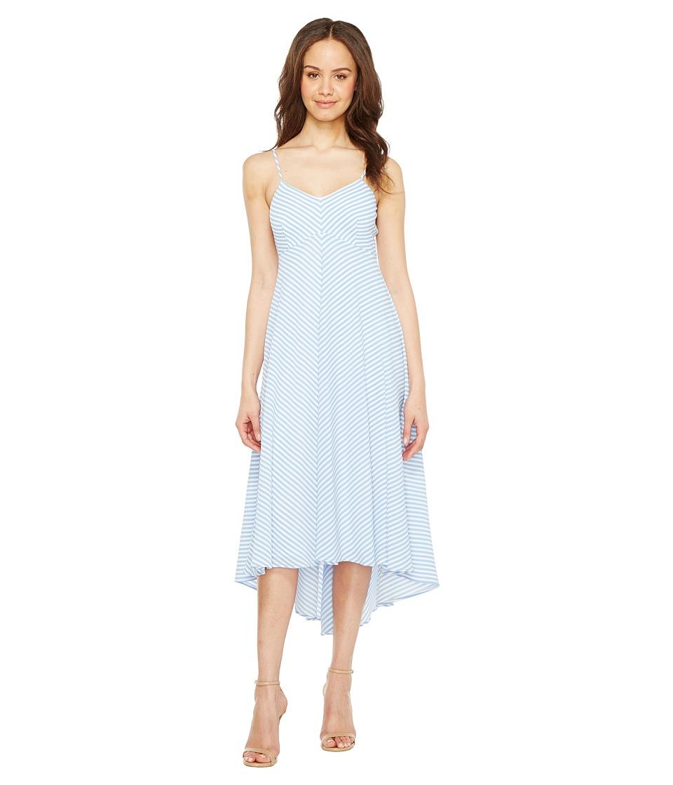 Taylor - Striped Slip Dress (Blue/Ivory) Women's Dress