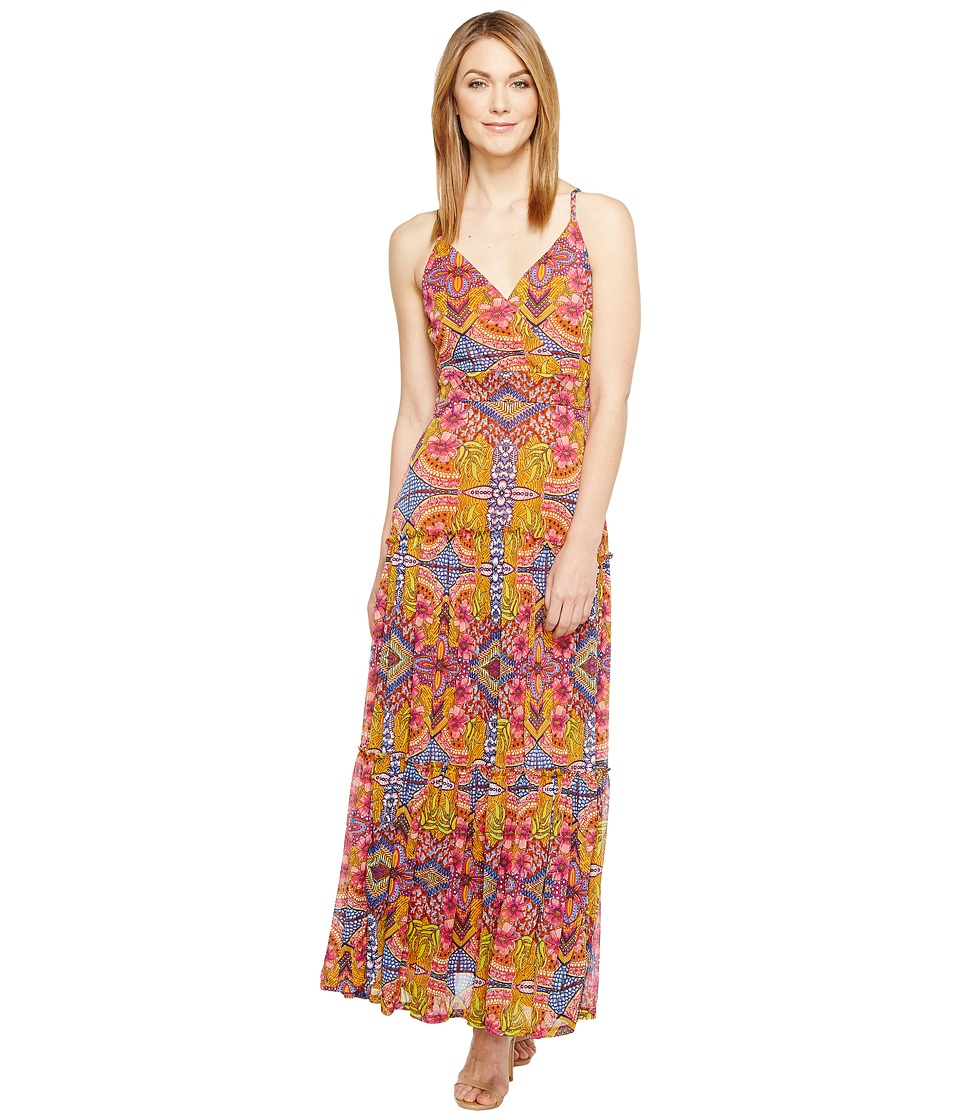 Taylor - Floral Jersey Mesh Maxi (Purple Multi) Women's Dress