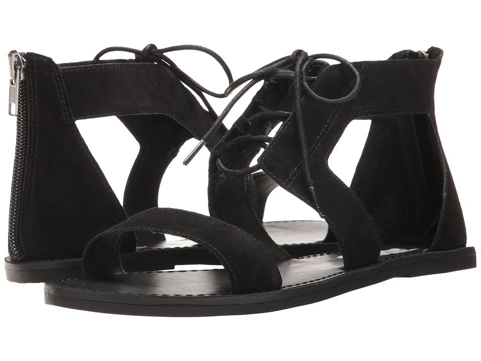 Steve Madden Delgado Black Suede Sandals