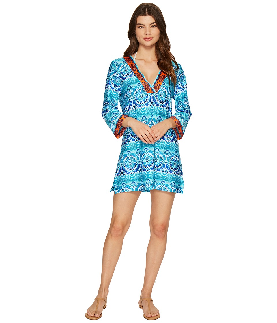 La Blanca - All In the Mix V-Neck Tunic Cover-Up (Multi) Women's Clothing