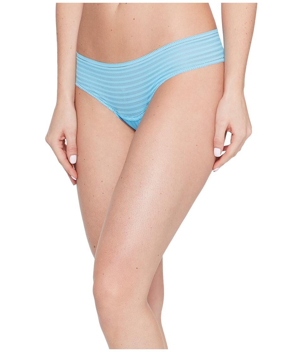 Cosabella - Sweet Treats Zebra Thong (Blue Bird) Women's Underwear