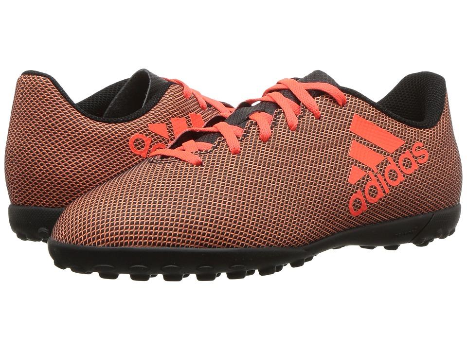 adidas Kids - X 17.4 TF J Soccer (Little Kid/Big Kid) (Black/Red/Orange) Kids Shoes