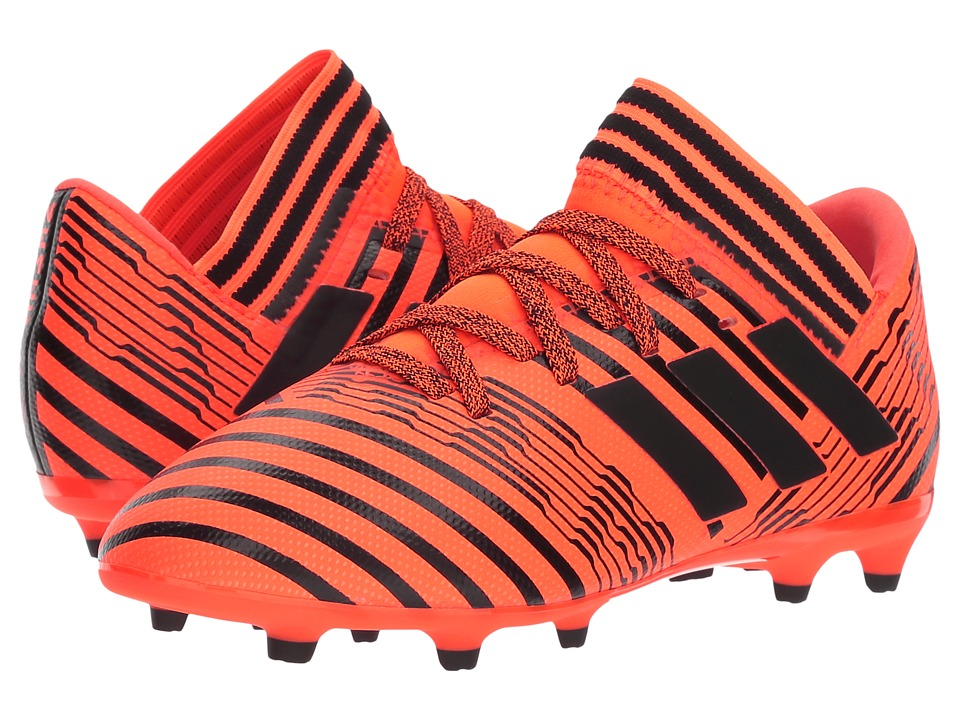 adidas Kids Nemeziz 17.3 FG J Soccer (Little Kid/Big Kid) (Orange/Black) Kids Shoes