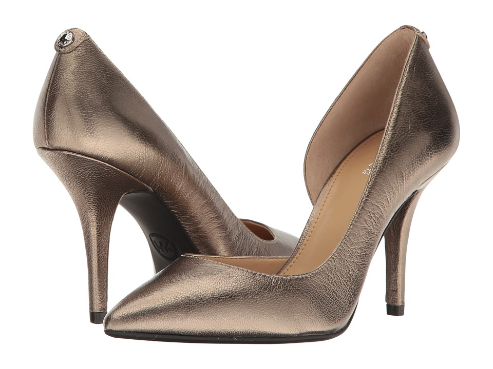 MICHAEL Michael Kors - Nathalie Flex High Pump (Nickel) Women's Shoes