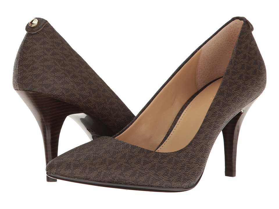 MICHAEL Michael Kors - MK Flex Mid Pump (Brown) High Heels