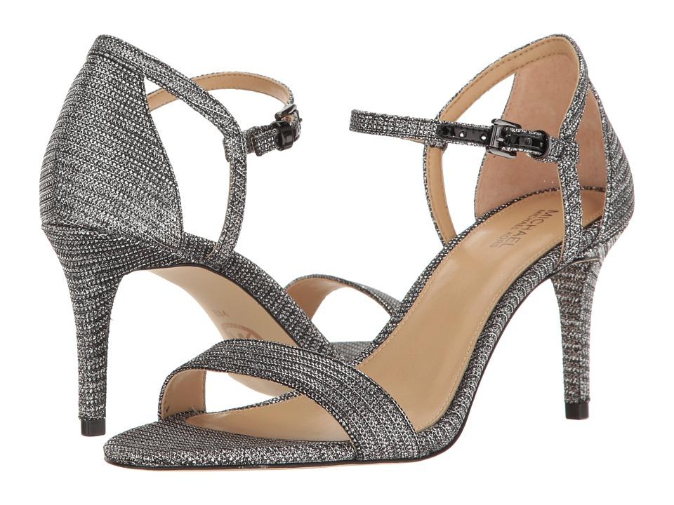 MICHAEL Michael Kors - Simone Mid Sandal (Black/Silver) Women's Sandals