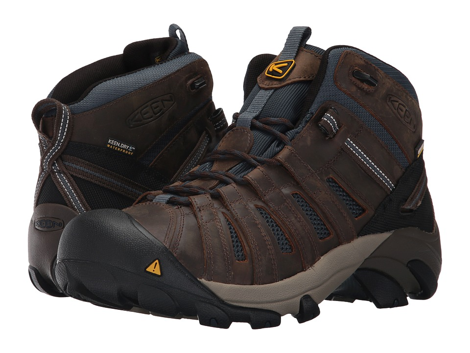 Keen Utility - Cody Waterproof Soft Toe (Cascade Brown/Midnight Navy) Men's Waterproof Boots