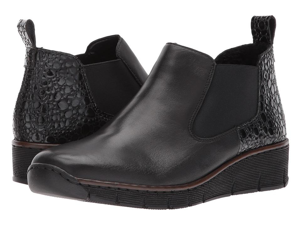 Rieker - 53794 Romina 94 (Schwarz/Granit) Women's Pull-on Boots