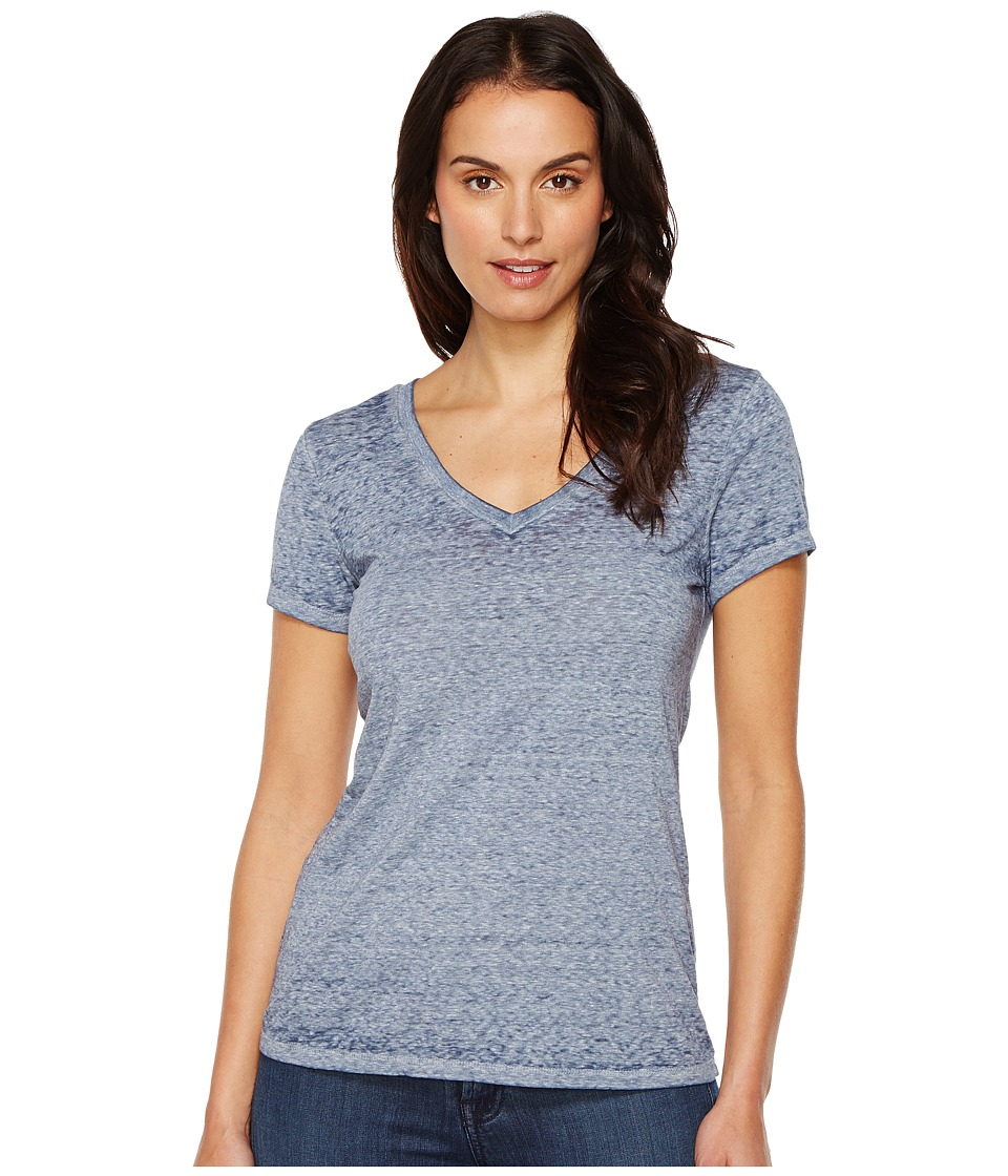 Threads 4 Thought - Vintage Wash V-Neck (Indigo) Women's Clothing