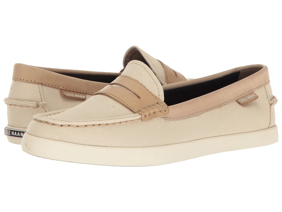 Cole Haan - Nantucket Loafer II (Sandshell Canvas/Barley Leather) Women's Slip on Shoes