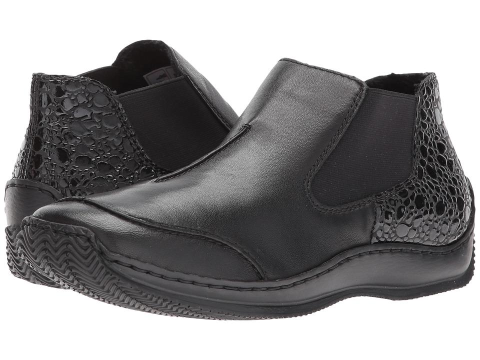 Rieker - L1794 Celia 94 (Schwarz/Granit) Women's Slip on  Shoes