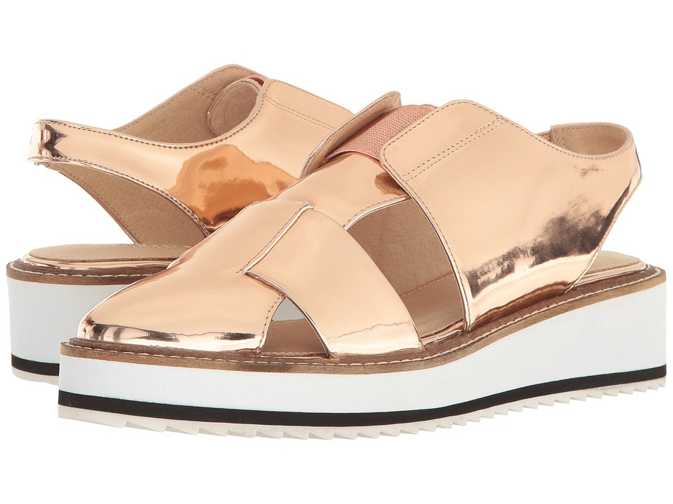 Shellys London - Dae Slingback (Rose Gold) Women's Wedge Shoes