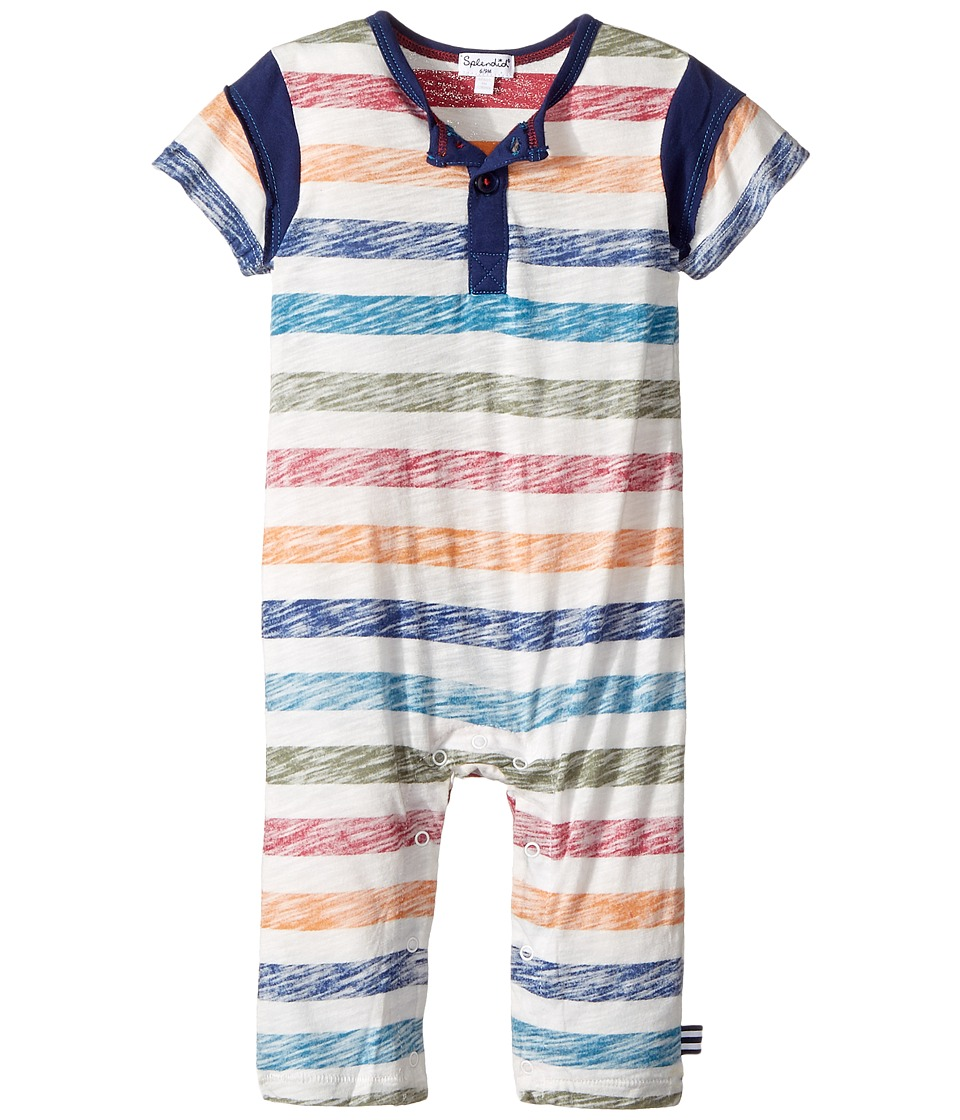 Splendid Littles - Reverse Printed Stripe Coverall (Infant) (Stripe) Boy's Jumpsuit & Rompers One Piece