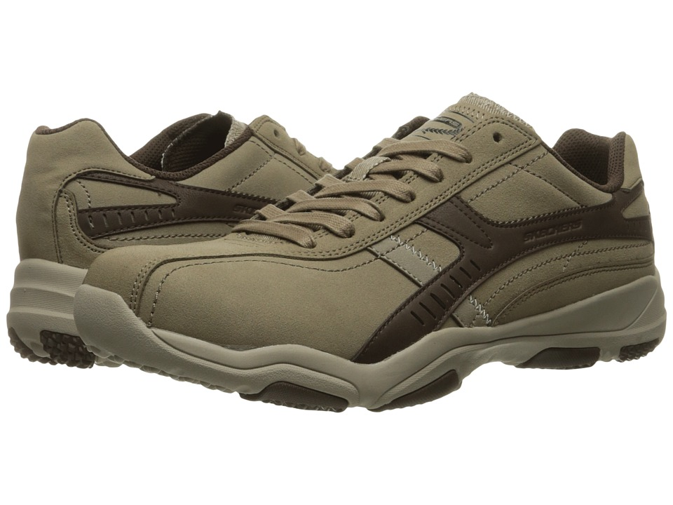 SKECHERS - Larsen-Almello (Taupe) Men's Lace up casual Shoes