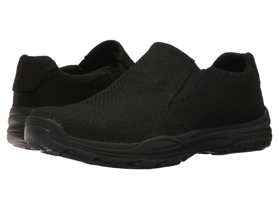 SKECHERS - Element-Retribe (Black Washed Canvas) Men's Lace up casual Shoes