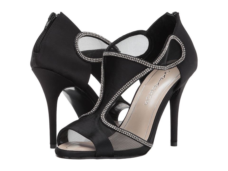 Caparros Jessica (Black Satin) High Heels