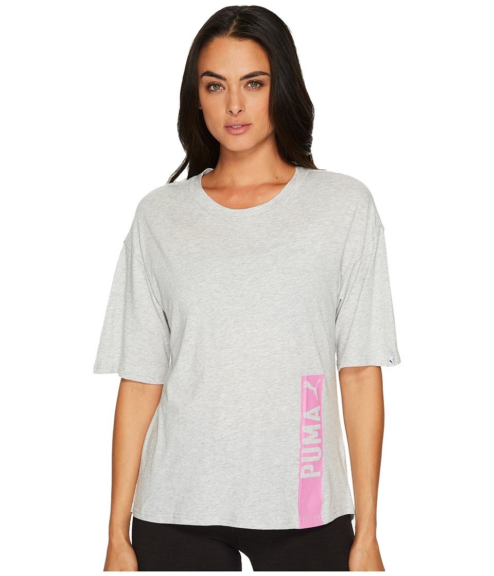PUMA Fusion Trend Tee (Light Grey Heather) Women