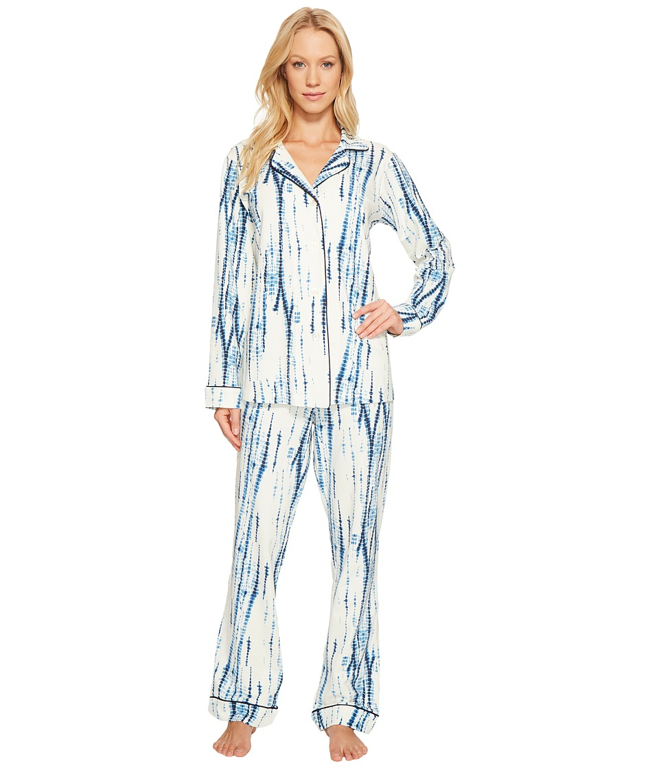 BedHead - Long Sleeve Classic Pajama Set (Indigo) Women's Pajama Sets