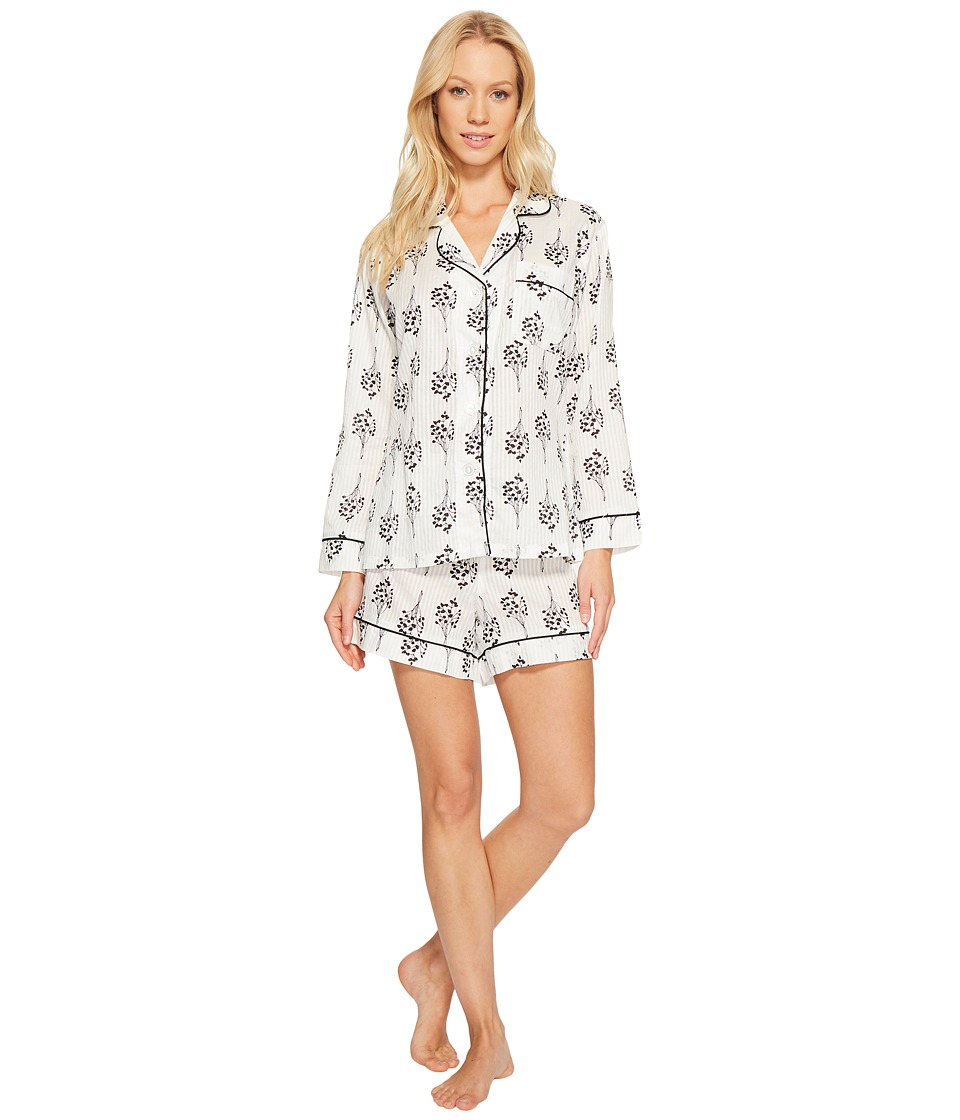 BedHead - Long Sleeve Classic Shorty Set (Black Branch) Women's Pajama Sets