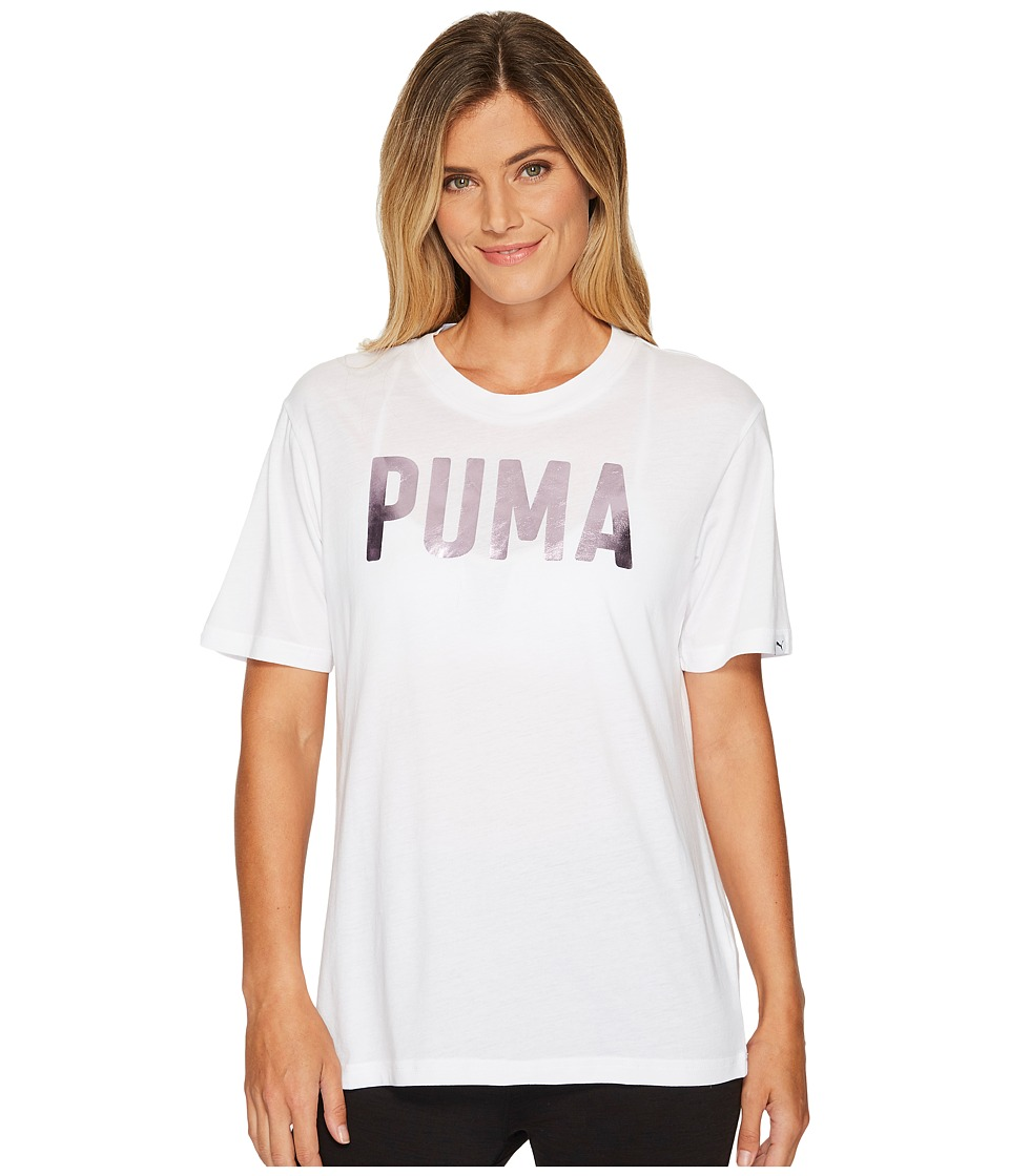 PUMA Fusion BF Tee (PUMA White Foil) Women