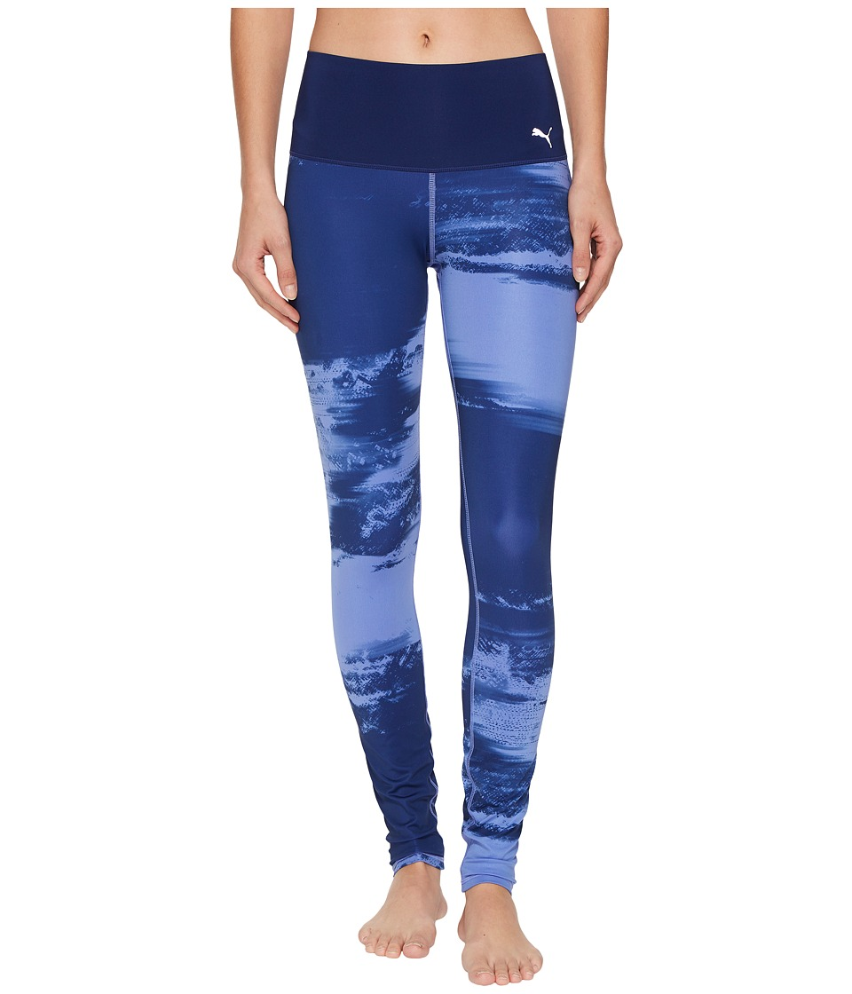 PUMA - Everyday Train Element Tights (Blue Depths Element Print) Women's Casual Pants