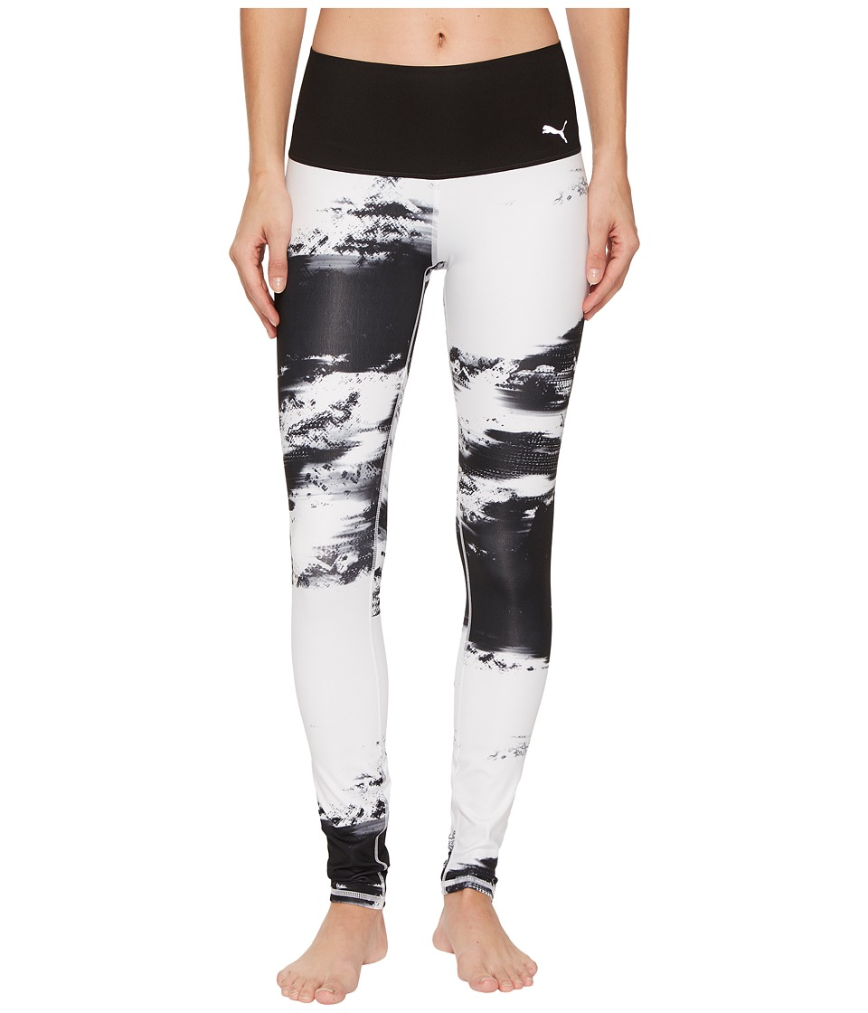 PUMA - Everyday Train Element Tights (PUMA Black/White Element Print) Women's Casual Pants