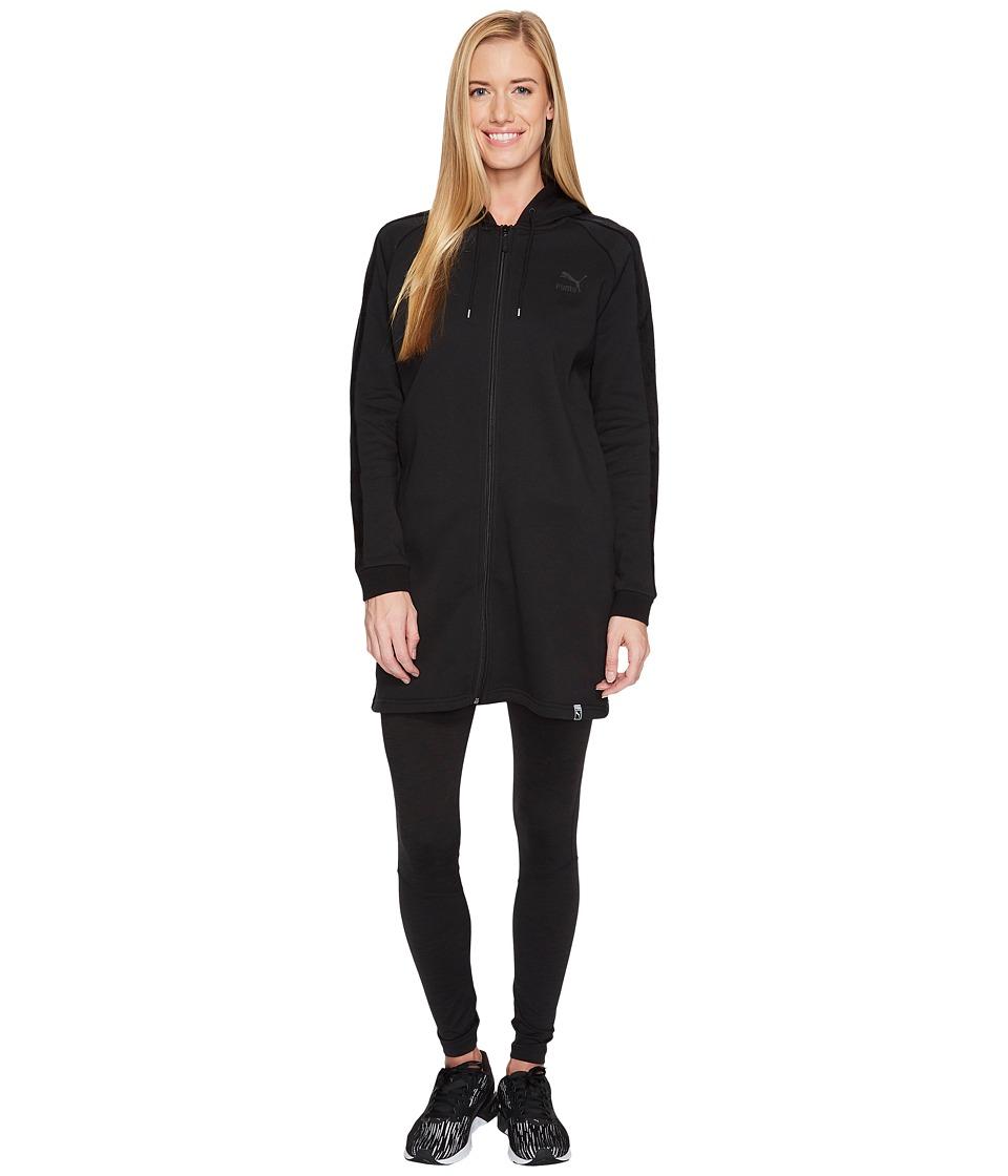 PUMA Winterized Archive Logo T7 Full Zip Hoodie (Cotton Black) Women