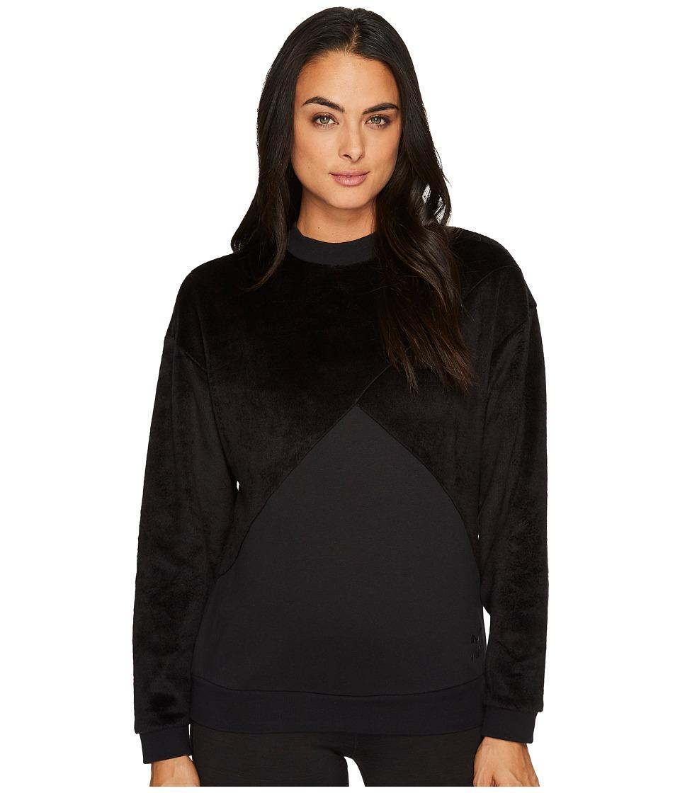 PUMA Fabric Block Crew Sweatshirt (PUMA Black) Women