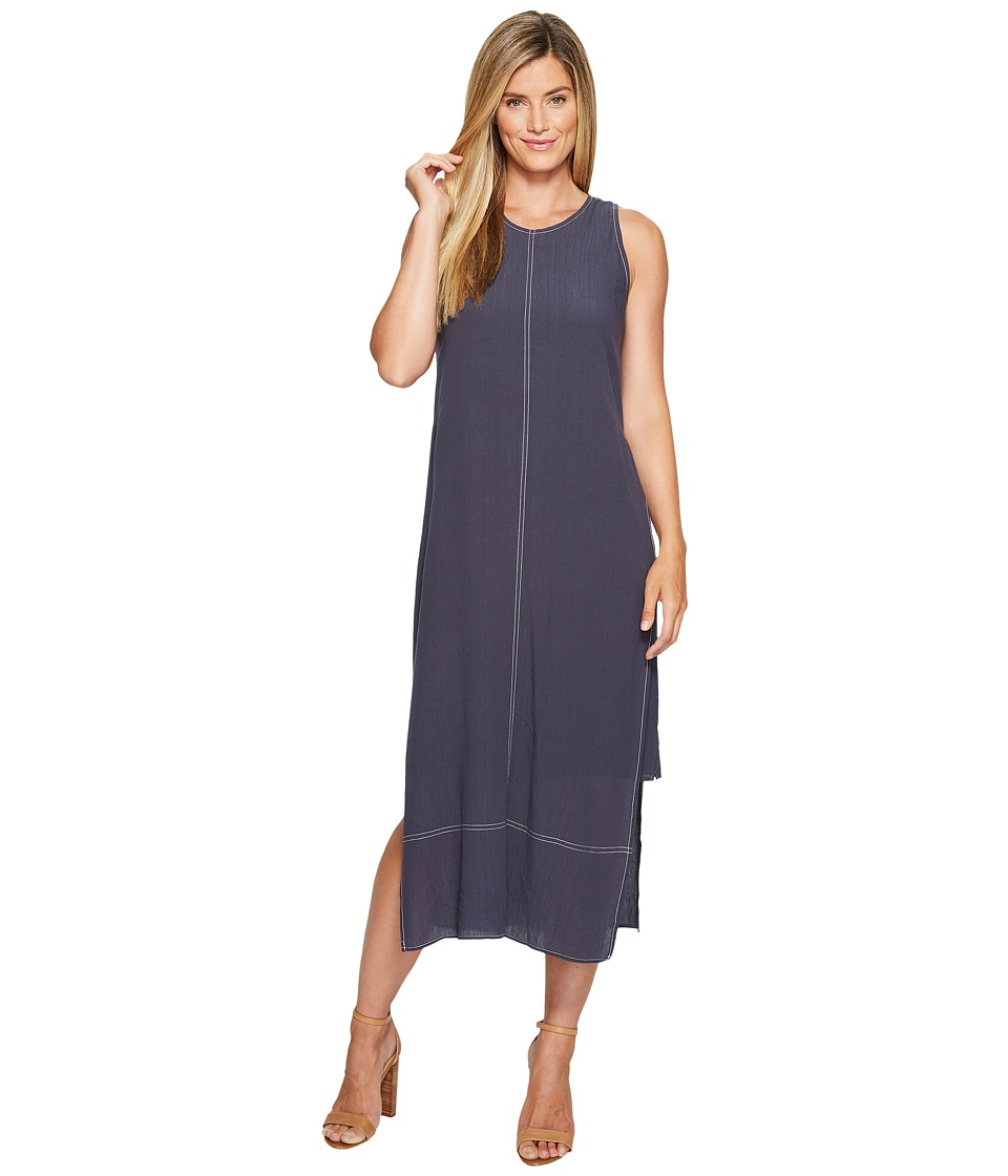 NIC+ZOE - Stitched Up Dress (Slate) Women's Dress