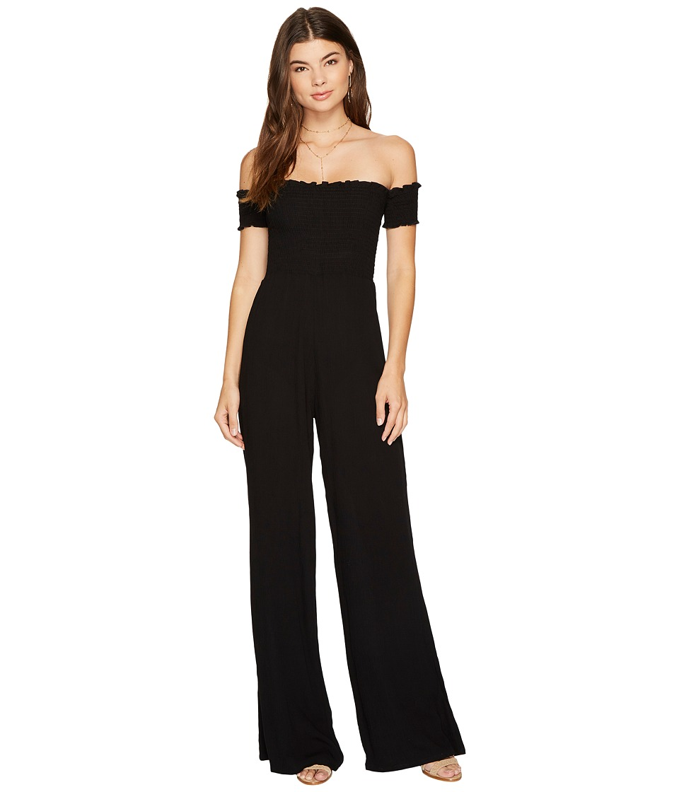 Flynn Skye - Ruby Jumper (Black Crinkle) Women's Jumpsuit & Rompers One Piece
