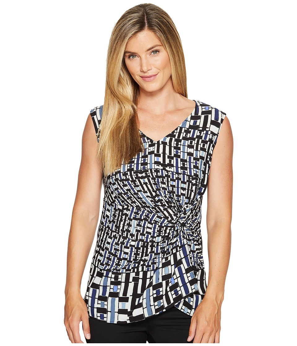 NIC+ZOE - Check Mix Top (Multi) Women's Clothing