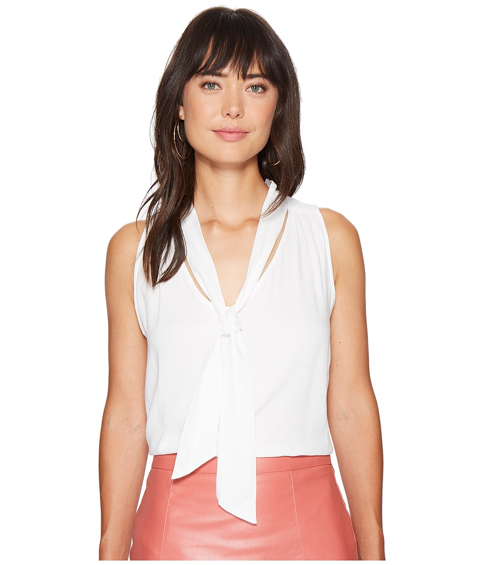 Bishop + Young - Tie Neck Top (Ivory) Women's Clothing
