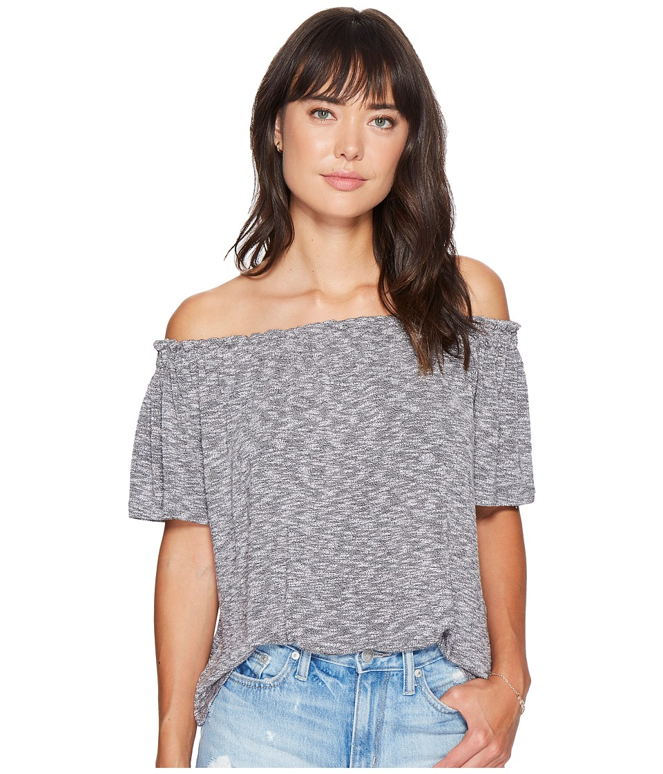 Bishop + Young - Off the Shoulder Top (Heather Grey) Women's Clothing
