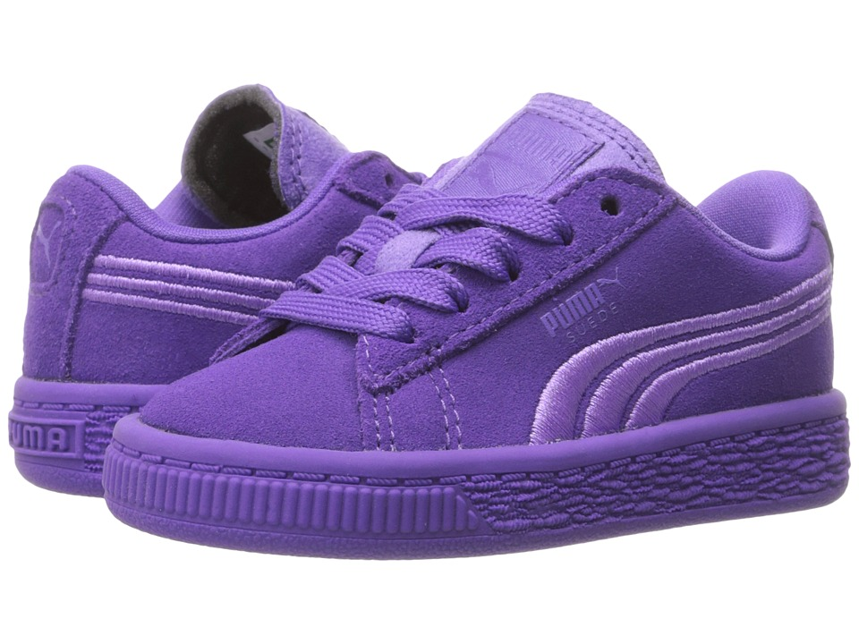 Puma Kids - Suede Classic Badge (Toddler) (Electric Purple) Girl's Shoes