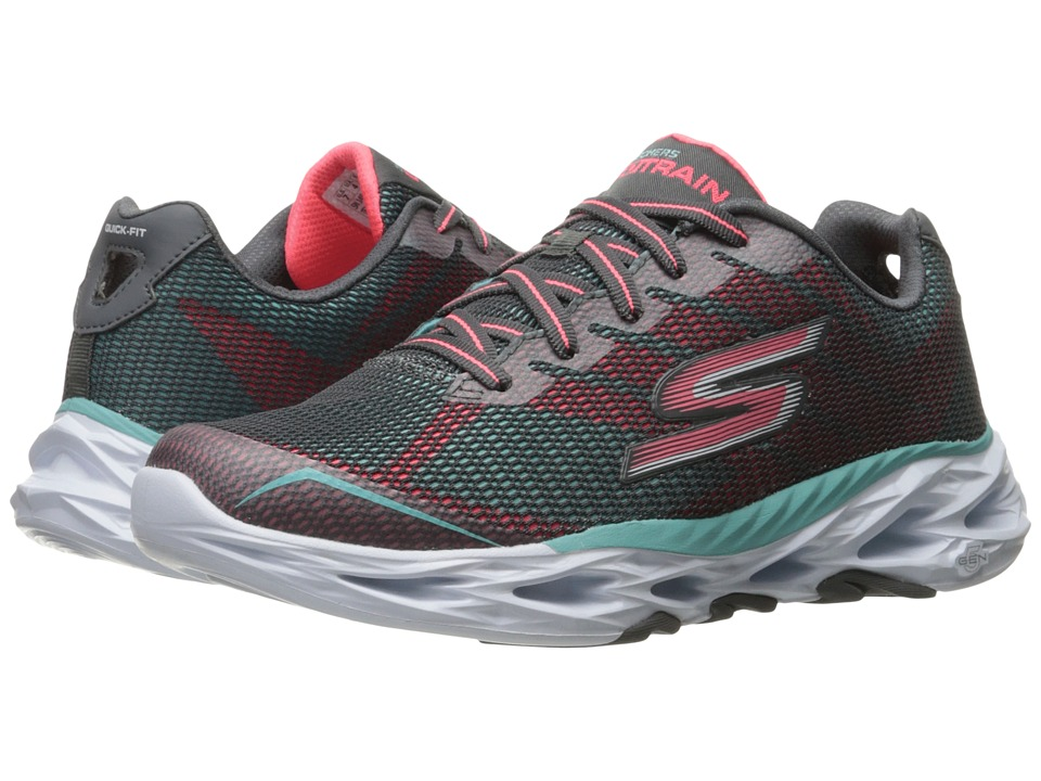 SKECHERS Performance - Go Train Vortex 2 (Charcoal/Light Blue) Women's Shoes