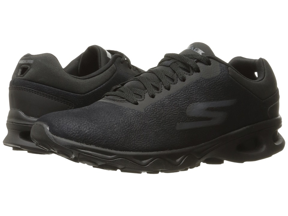 SKECHERS Performance - Go Walk Zip - Dart (Black) Women's Shoes