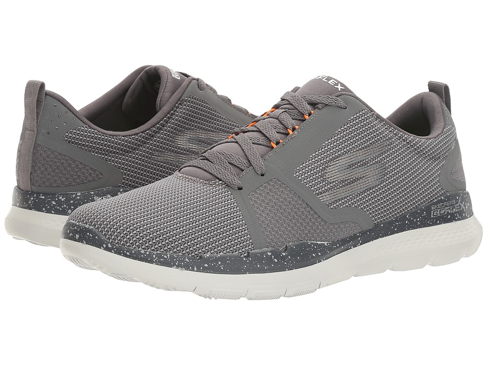 SKECHERS Performance - Go Flex Train (Charcoal/Orange) Men's Shoes