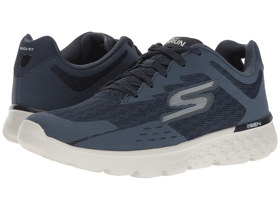 SKECHERS Performance - Go Run 400 - Disperse (Navy/Gray) Men's Shoes