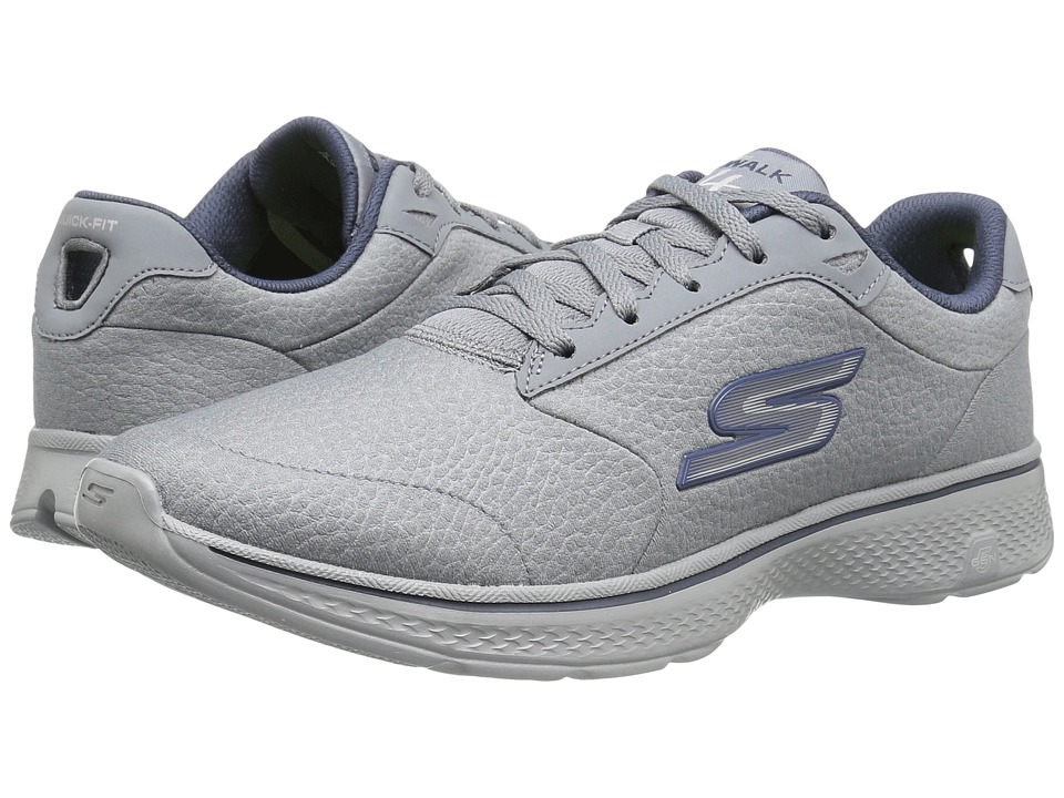 SKECHERS Performance - Go Walk 4 - Exceptional (Charcoal/Navy) Men's Shoes