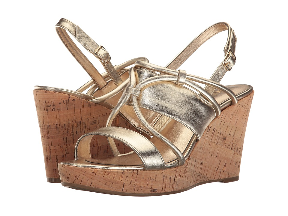 Nine West - Edley (Light Gold Synthetic) Women's Shoes