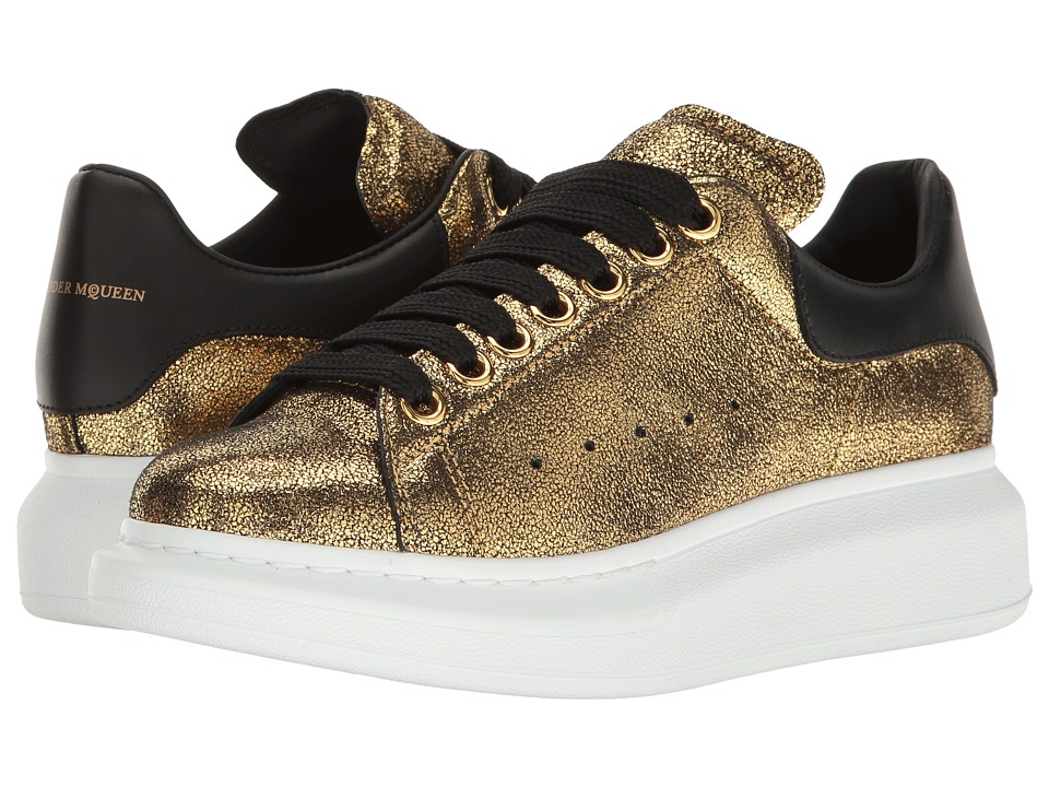 Alexander McQueen - Oversized Sneaker (Gold/Black) Women's Lace up casual Shoes
