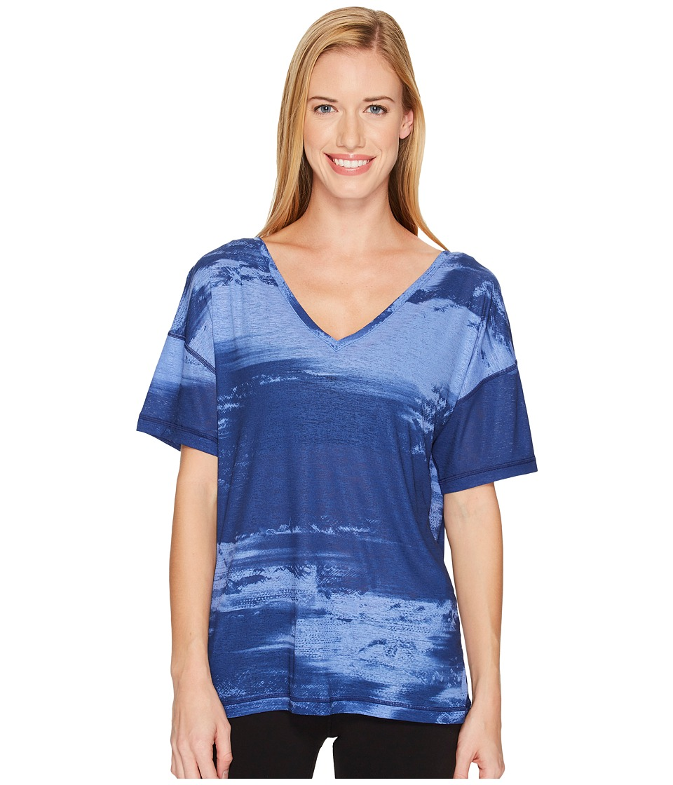 PUMA Dancer Drapey Tee (Blue Depths/Baja Blue Element Print) Women