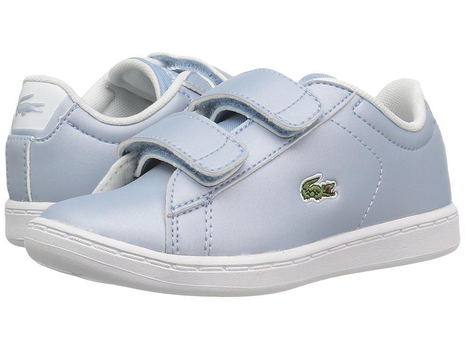Lacoste Kids - Carnaby Evo 317 6 (Toddler/Little Kid) (Light Blue) Kid's Shoes